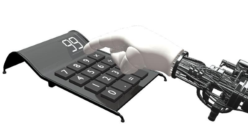 Robot calculando