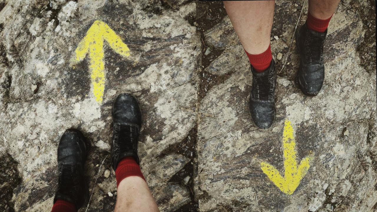 Camino en doble sentido