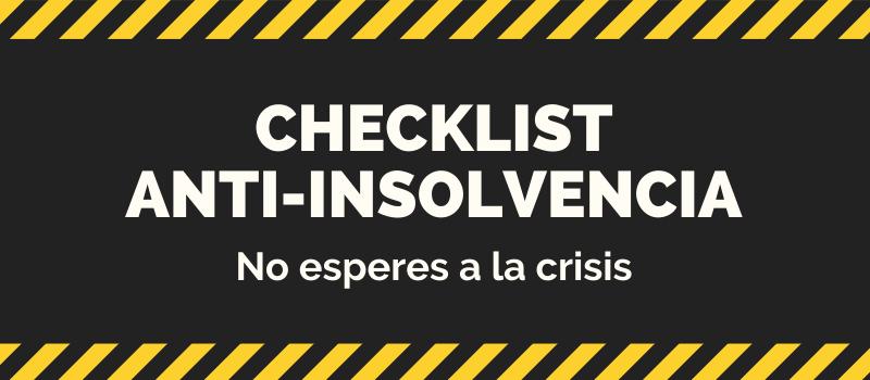 Checklist Anti Insolvencia